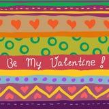 karta rysujący ręki valentine Zdjęcia Stock