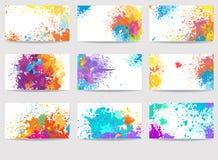 Karta szablony robić farb plamy ilustracji