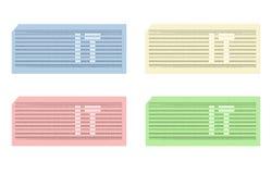 Karta uderzać pięścią z skrótem ONO - cdr format Zdjęcie Royalty Free