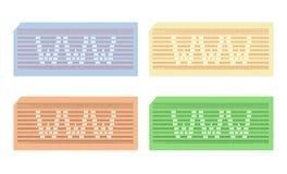 Karta uderzać pięścią z skrótem Www - cdr format Obrazy Stock