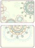 Karta z abstrakcjonistycznymi kółkowymi ornamentami Fotografia Stock