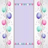 Karta z balonami Zdjęcie Stock
