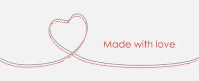 Karta z dratwy koronki sercem i odbitkowym miejscem Zdjęcia Stock
