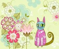 Karta z kwiatami Zdjęcia Stock