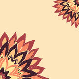 Karta z kwiatu rocznika kolorów nakreślenia stylem Obraz Royalty Free