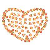 Karta z Kwiecistego ornamentu sercem Obraz Royalty Free