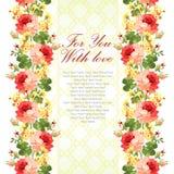 Karta z kwiecistym wzorem Zdjęcia Royalty Free