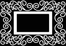Karta z ornamentem Zdjęcie Stock