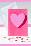 karta z różowymi sercami Zdjęcie Royalty Free