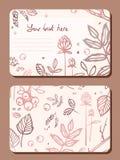 Karta z sprig liści elementy lasowi Zdjęcia Stock