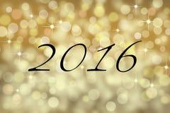 2016 karta z teksta i bokeh backgound Zdjęcie Stock