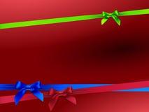 Karta z trzy kolorowymi łękami Fotografia Stock