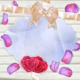 Karta z tulipanowymi płatkami 10 eps Zdjęcia Royalty Free