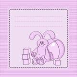 Karta z zabawkami Obrazy Stock