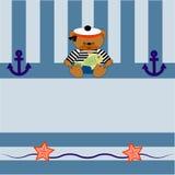 0215_1 karta z znosi kotwicę i ryba Fotografia Stock
