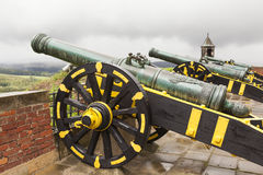 Kartaun (Belagerungswaffe) auf Sklavewagen Festung Königstein sachsen deutschland Stockbilder
