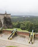 Kartaun (oblężnicza broń) na poddańczym frachcie k forteczny nigstein saxony Niemcy Obrazy Stock