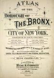 Kartbok av Bronxen Royaltyfri Foto