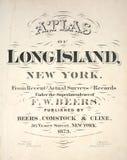 Kartbok av Long Island arkivfoto