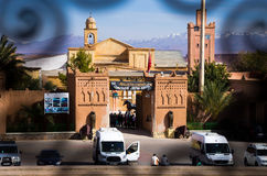 Kartbok Korporation studio i Ouarzazate, Marocko Royaltyfria Foton