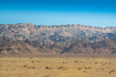 Kartbokberg, Chebika, gräns av Sahara, Tunisien Royaltyfria Foton