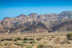 Kartbokberg, Chebika, gräns av Sahara, Tunisien Royaltyfria Bilder