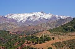 Kartbokberg i Marocko Arkivbild