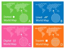 Karte Lizenzfreies Stockfoto
