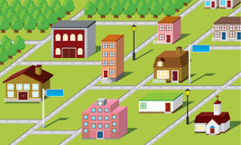 Karte 3D Lizenzfreies Stockfoto