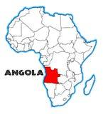 Karte Angolas Afrika vektor abbildung