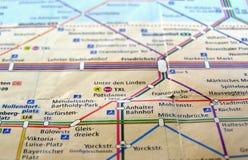 Karte Berlin-U-Bahn Lizenzfreie Stockbilder