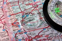 Karte Cincinnati Stockfoto
