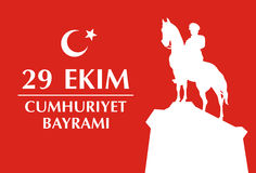 Karte Cumhuriyet Bayramı Stockfoto