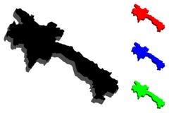 Karte 3D von Laos Stockfotografie