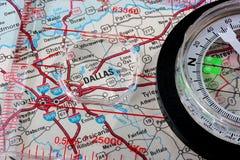Karte Dallas lizenzfreie stockfotografie