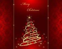 Karte der frohen Weihnachten Stockfotografie