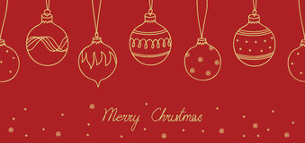 Karte der frohen Weihnachten Stockfotos