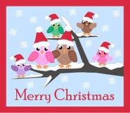 Karte der frohen Weihnachten Lizenzfreie Stockfotos