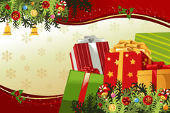 Karte der frohen Weihnachten Stockbilder