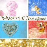 Karte der frohen Weihnachten Stockfoto
