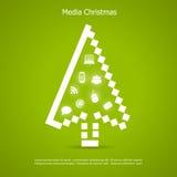 Karte der frohen Weihnachten Lizenzfreies Stockbild