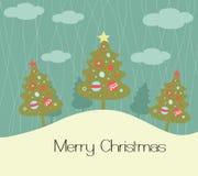 Karte der frohen Weihnachten Lizenzfreies Stockfoto
