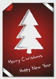 Karte der frohen Weihnachten des heftigen Papiers Stockfoto
