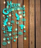 Karte der frohen Weihnachten mit Engeln Stockfotos