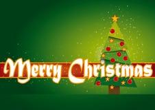 Karte der frohen Weihnachten mit Sternen Stockfotografie