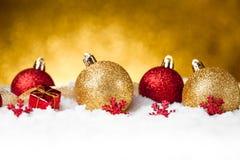 Karte der frohen Weihnachten und des guten Rutsch ins Neue Jahr Stockbild