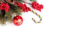 Karte der frohen Weihnachten und des guten Rutsch ins Neue Jahr Lizenzfreie Stockfotos