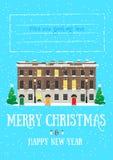 Karte der frohen Weihnachten und des guten Rutsch ins Neue Jahr Stockfotos