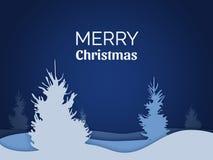 Karte der frohen Weihnachten vektor Lizenzfreie Stockfotos