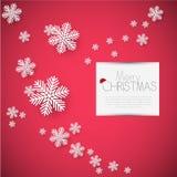 Karte der frohen Weihnachten, Vektor lizenzfreies stockbild